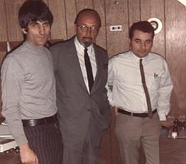 Ahmet Ertegun (Center)