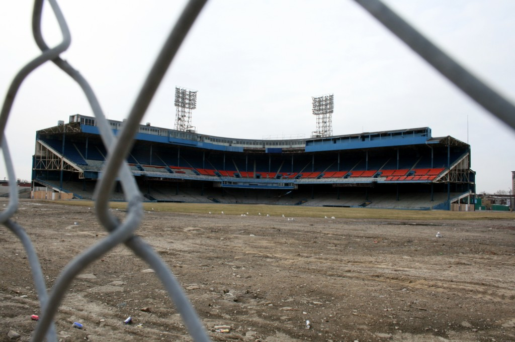 The last remaining section of Tiger Stadium, just weeks before its demolition in 2009--ten years after the Tigers final game here.  (Photo credit: Kevin Walsh)
