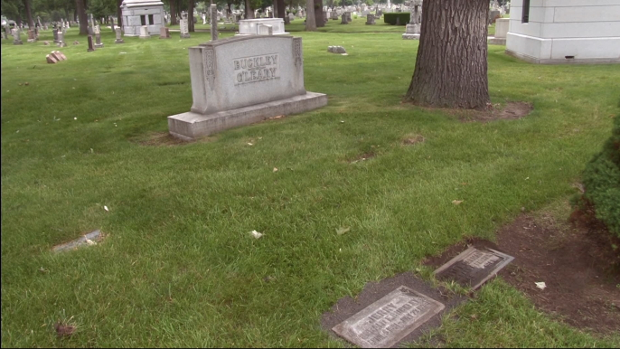 Jerry Buckley's gravesite at Mount Olivet Cemetery.