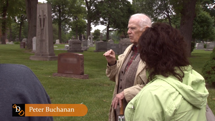 On a tour at Mount Olivet Cemetery, Peter Buchanan shares his research on the Buckley case.