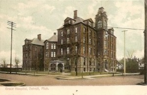 Grace Hospital, demolished in 1979. Harry Houdini died here on Halloween night, 1926